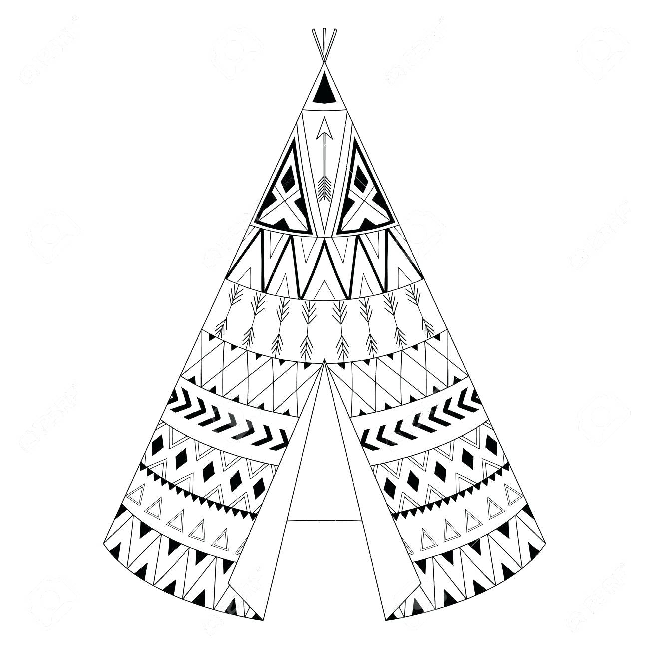 kids teepee coloring pages - photo#20