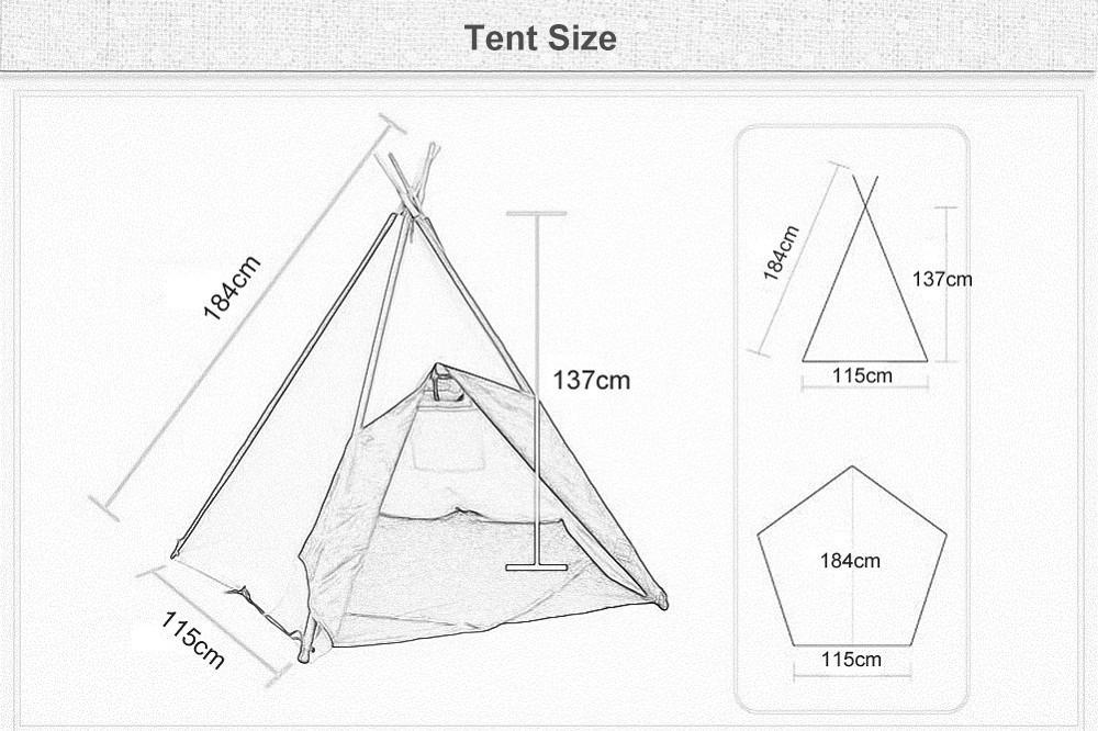 1000x666 Dream House Indoor Cotton Canvas Cowboy Indian Teepee Tent