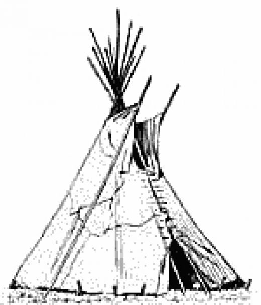 520x607 Teepee Coloring Pages