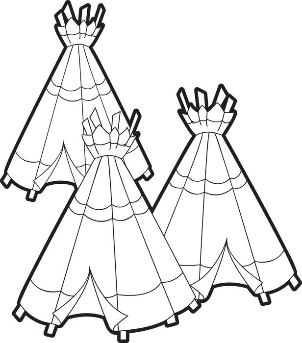 616x700 Tepee Coloring Pages