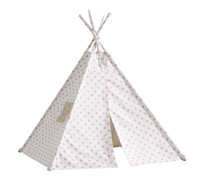 710x626 Lilac Dot Mini Teepee Pottery Barn Kids