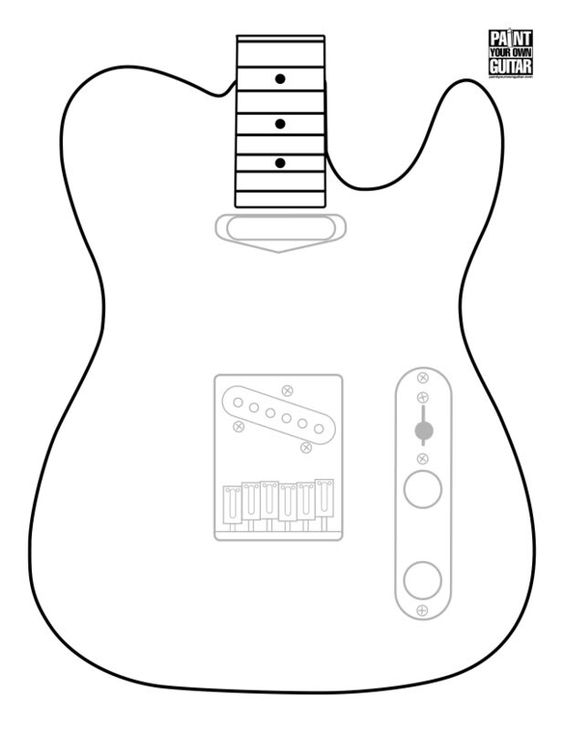 Telecaster Drawing At Getdrawings