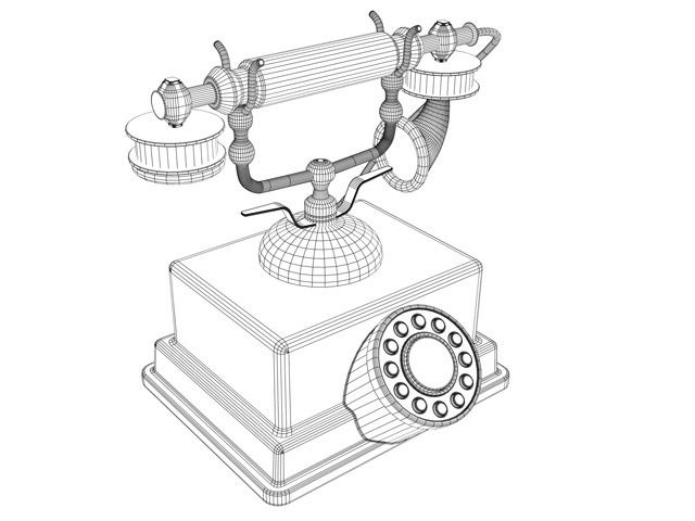 640x480 3d Model Vintage Telephone Cgtrader