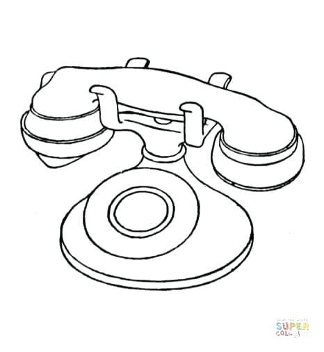 466x506 Telephone Coloring Pages Fax Coloring Page Telephone Booth