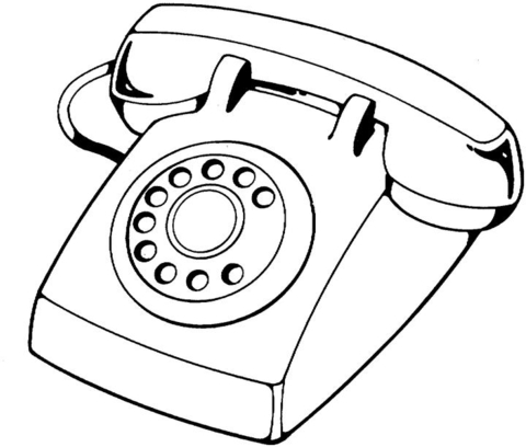 480x408 Telephone Device Coloring Page Free Printable Coloring Pages