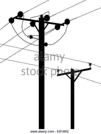 409x540 Wooden Power Pole Wires Transmit Stock Photos Amp Wooden Power Pole