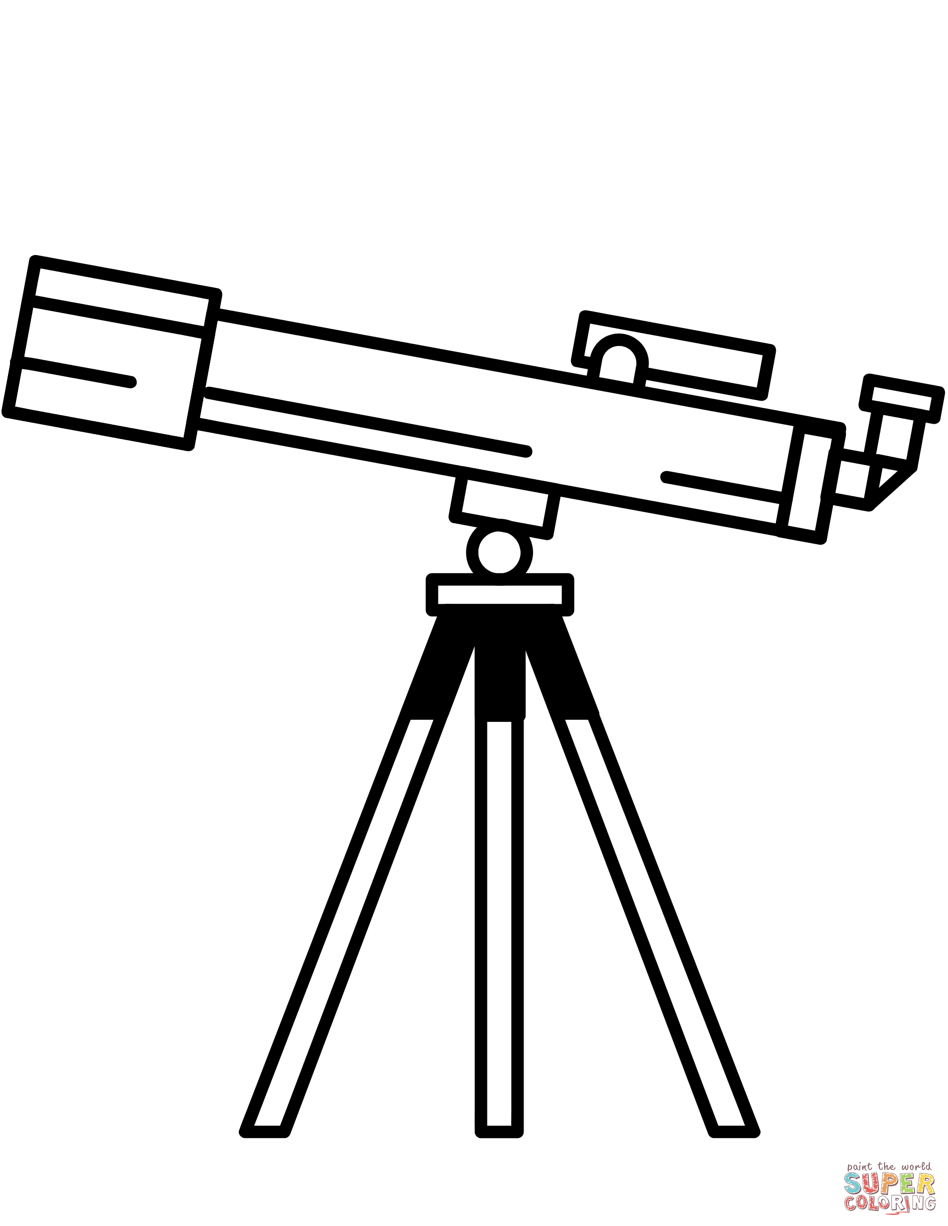 1894x2451 Telescope Coloring Page Free Printable Pages