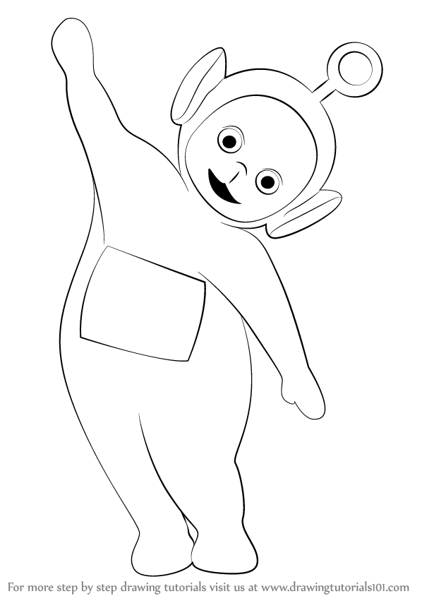 598x844 Learn How To Draw Po From Teletubbies (Teletubbies) Step By Step