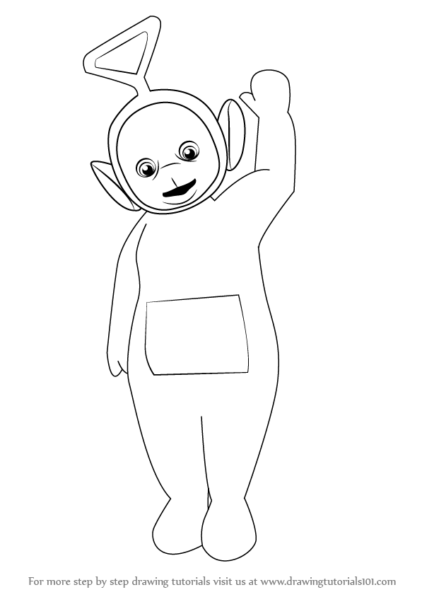 597x844 Learn How To Draw Tinky Winky From Teletubbies (Teletubbies) Step