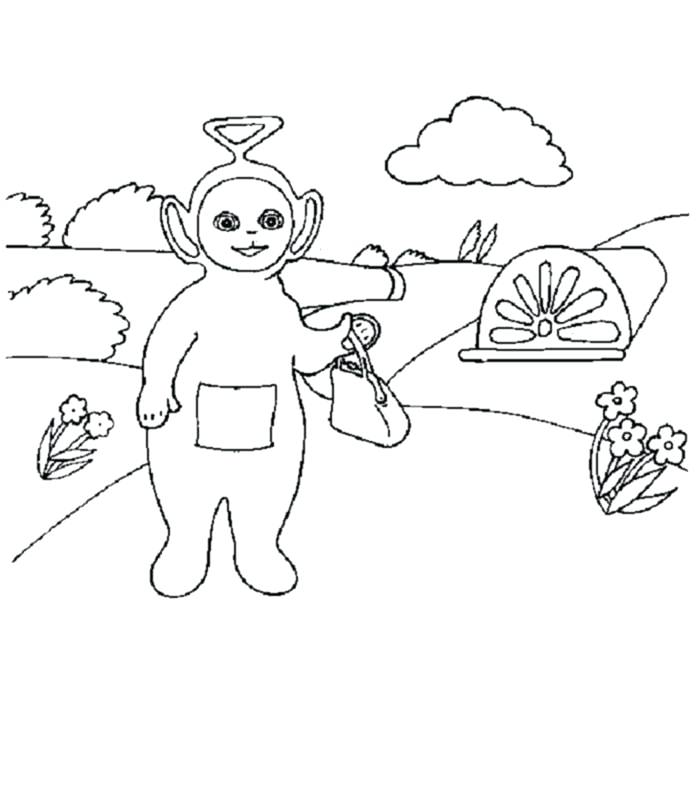 700x800 Pretty Teletubbies Coloring Page Free Download