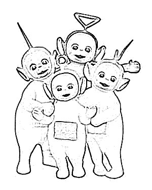 300x375 Teletubbies Cartoon Sketch