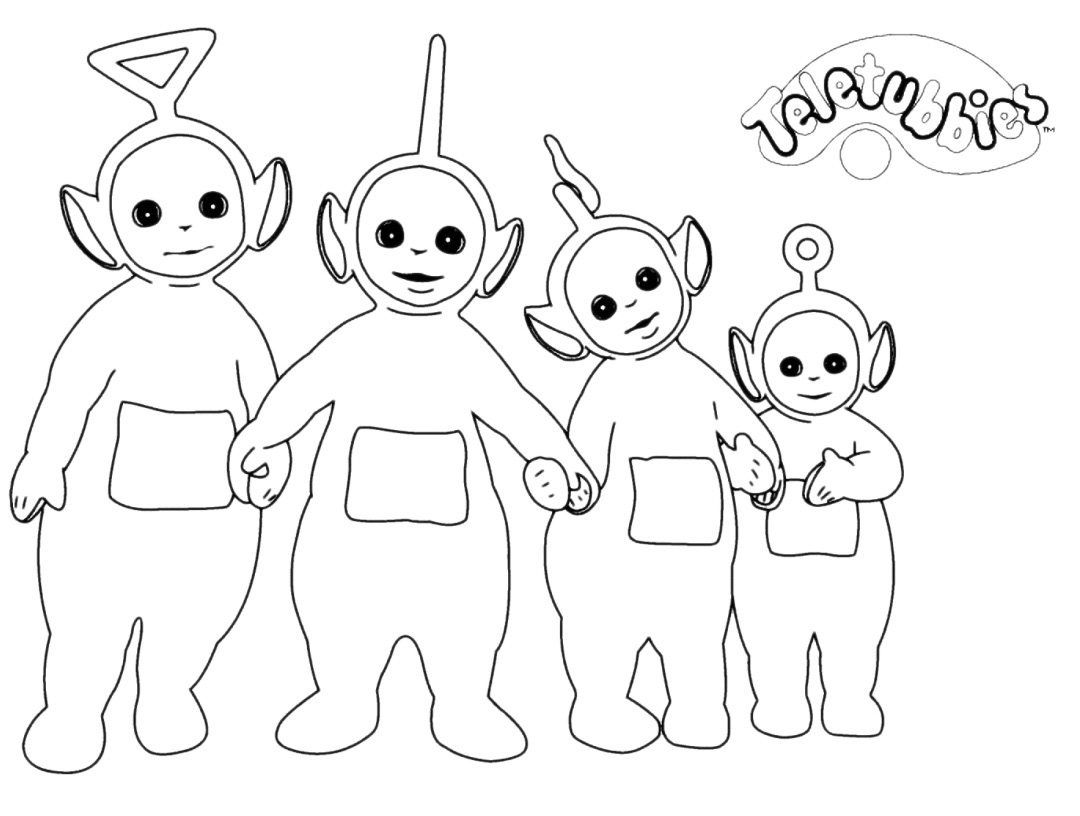 1080x816 Teletubbies Coloring Book Home Po Cute Fun Pages Of Printable