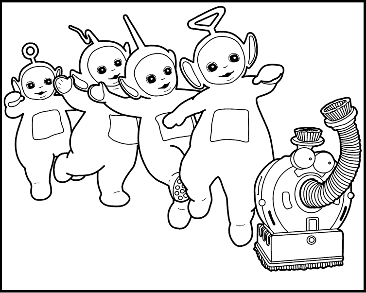 753x603 Activity Teletubbies Printable Coloring Picture For Kids