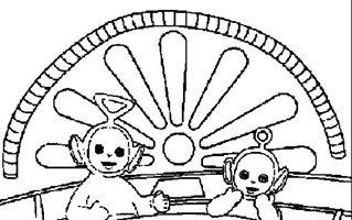 319x200 Teletubbies Coloring Pages All Kids Network