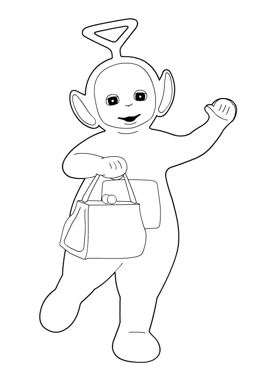 540x740 Teletubbies Tinky Winky Coloring Pages To Amusing Print Paint