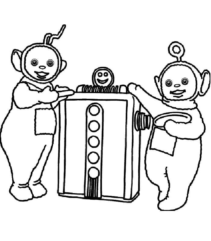 700x800 Coloring Pages Teletubbies