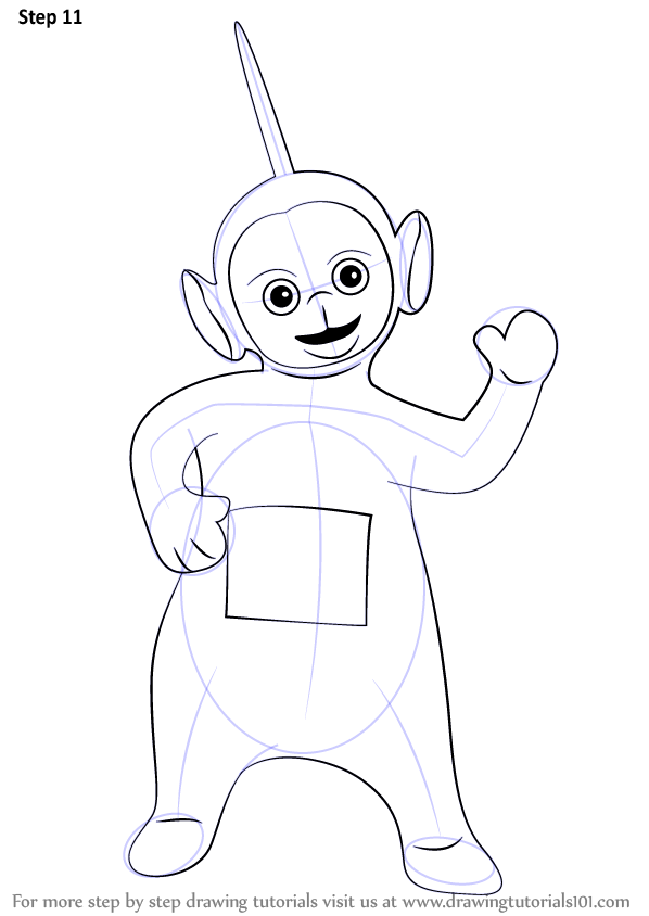 598x844 Learn How To Draw Dipsy From Teletubbies (Teletubbies) Step By