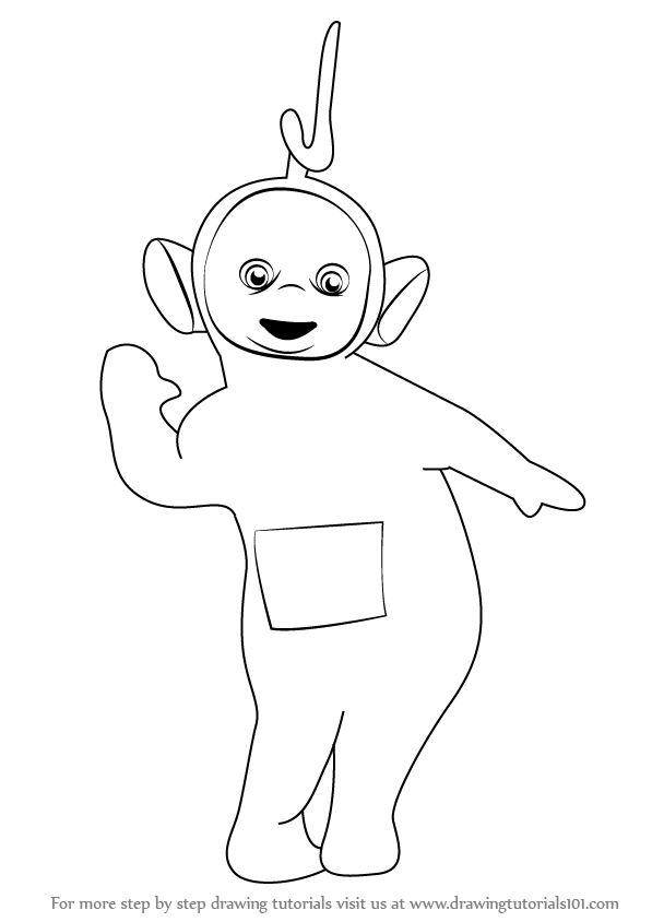 597x844 Learn How To Draw Laa Laa From Teletubbies (Teletubbies) Step By