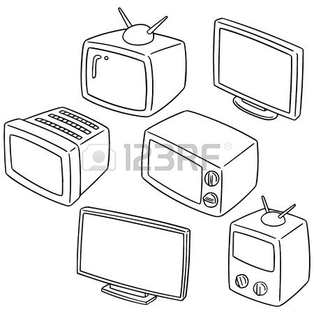 Television Set Drawing