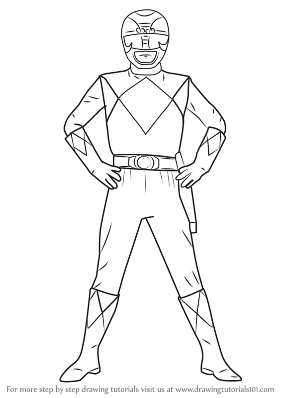 567x800 Learn How To Draw Black Ranger From Power Rangers (Power Rangers
