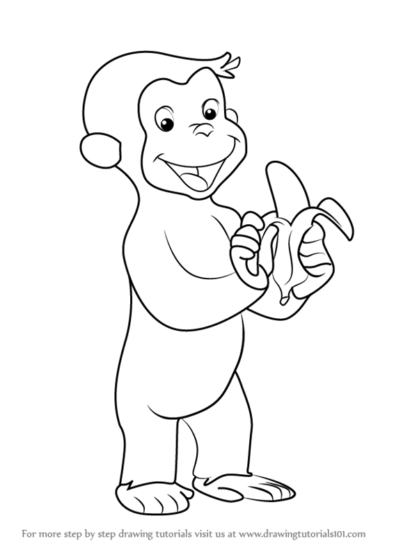 566x800 Learn How To Draw Curious George Monkey (Curious George) Step By