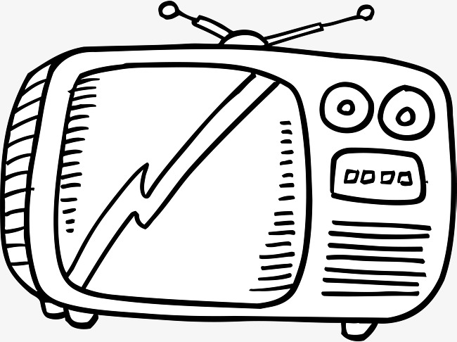 650x486 Retro Tv, Television, Hand Drawn Tv Set Png Image For Free Download