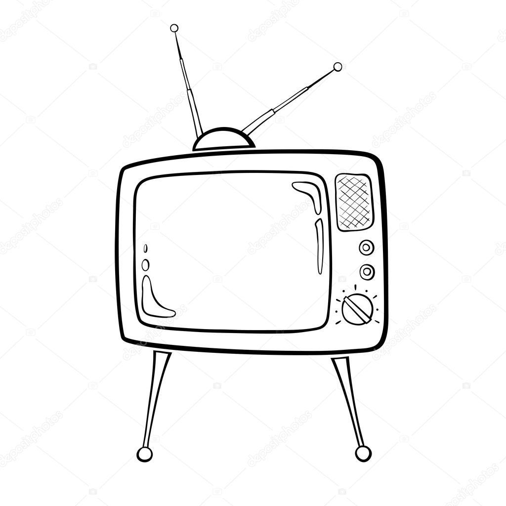1024x1024 Retro Tv Stock Vector Kernelpanic