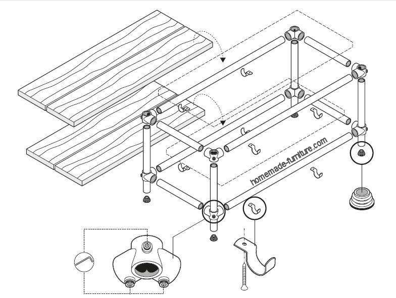 784x591 Tv Table Construction Example, Drawings For Scaffolding Pipes