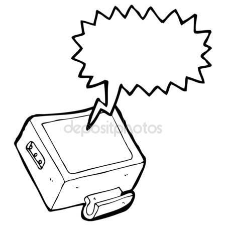 450x450 Cartoon Television Set Stock Vector Lineartestpilot