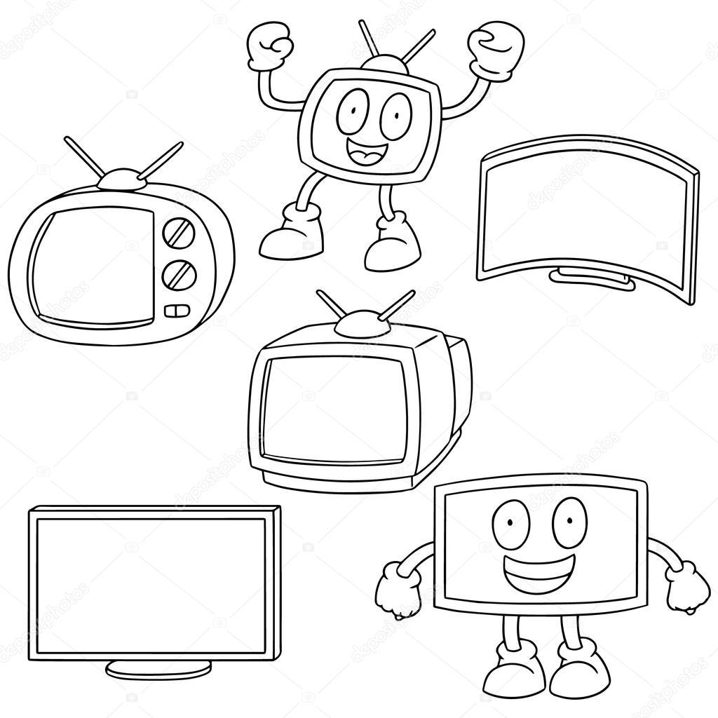 1024x1024 Vector Set Of Television Stock Vector Ourlifelooklikeballoon