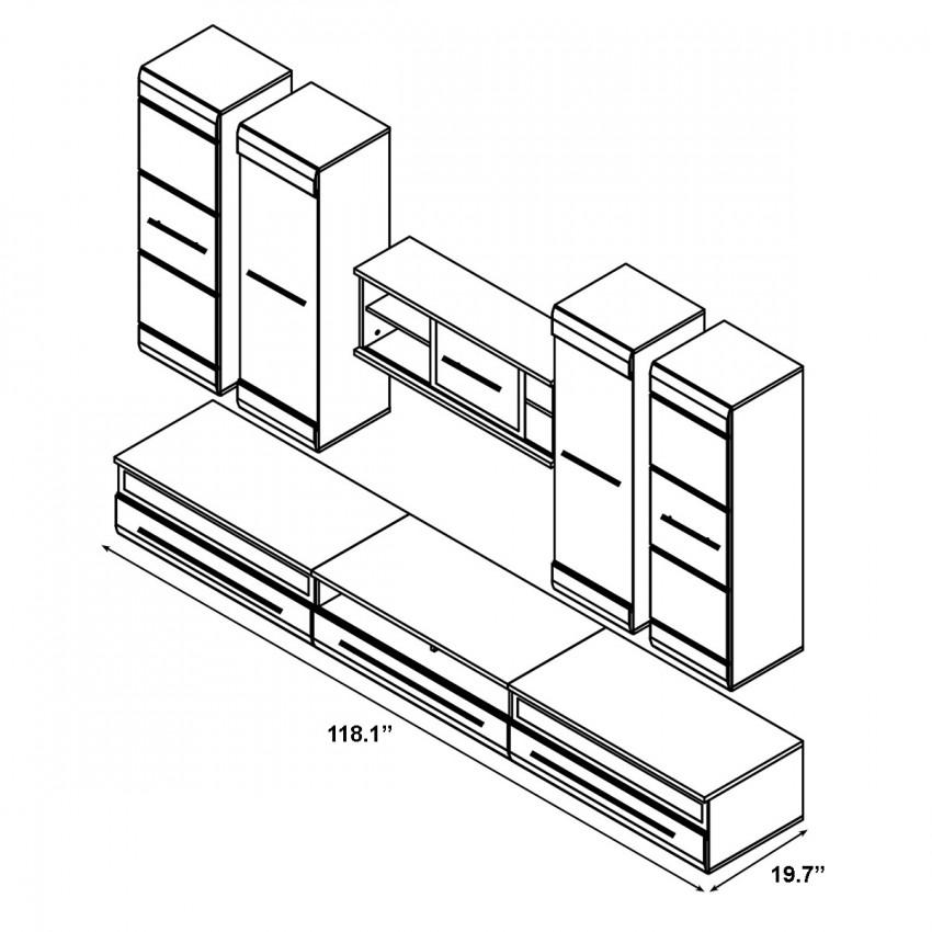 850x850 Fever Wall Unit Set 1