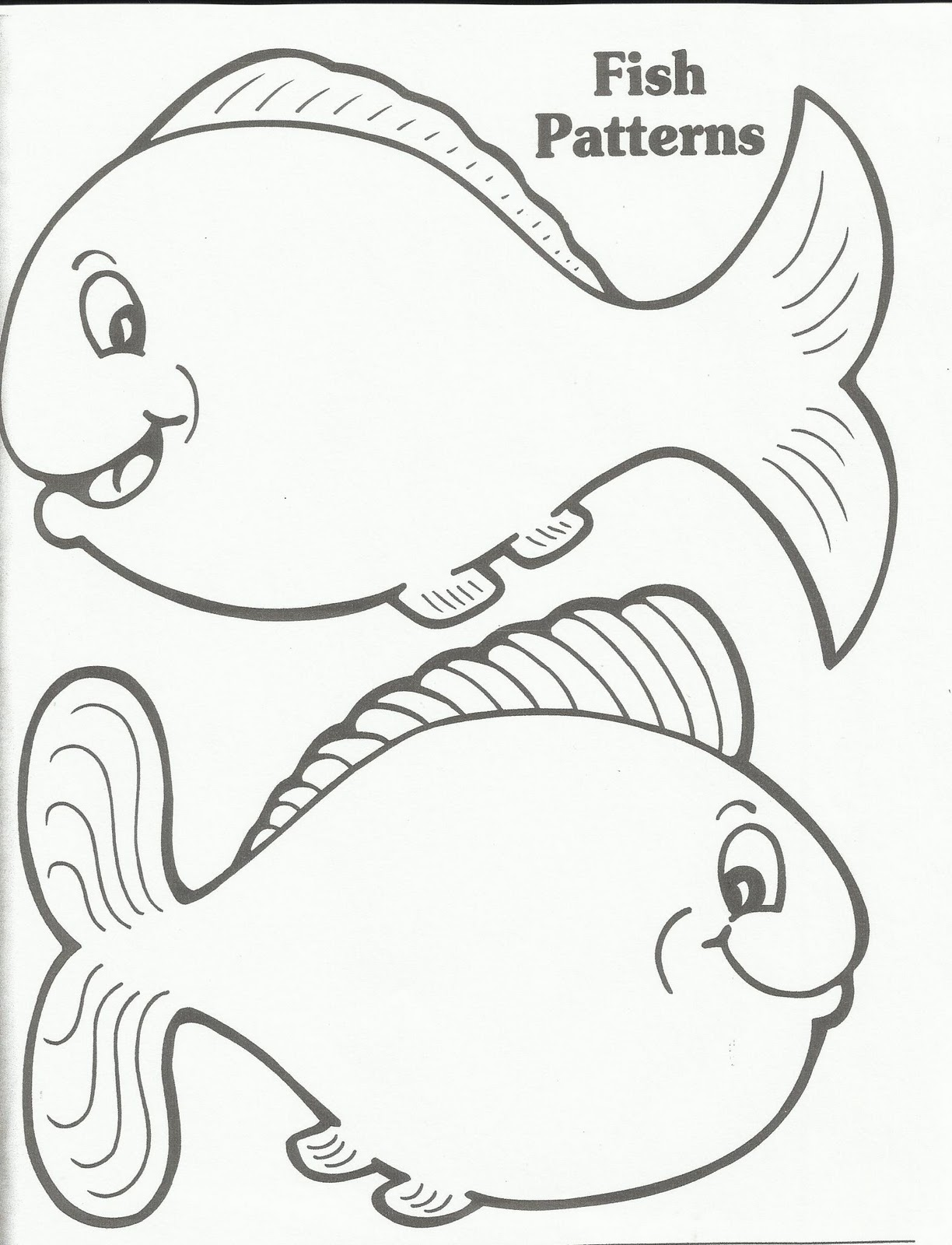 1224x1600 Coloring Pages For Kids Online Fish Template Printable In Plans