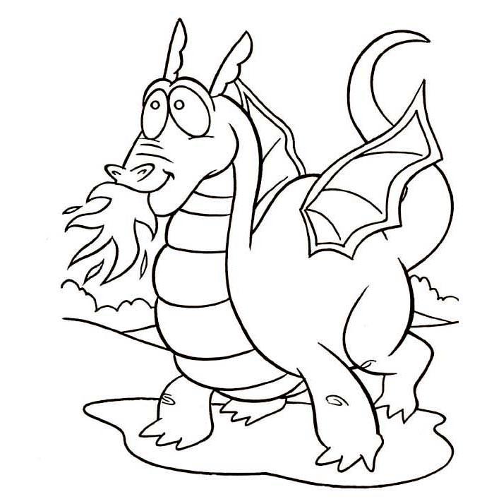 700x707 Dragon Template