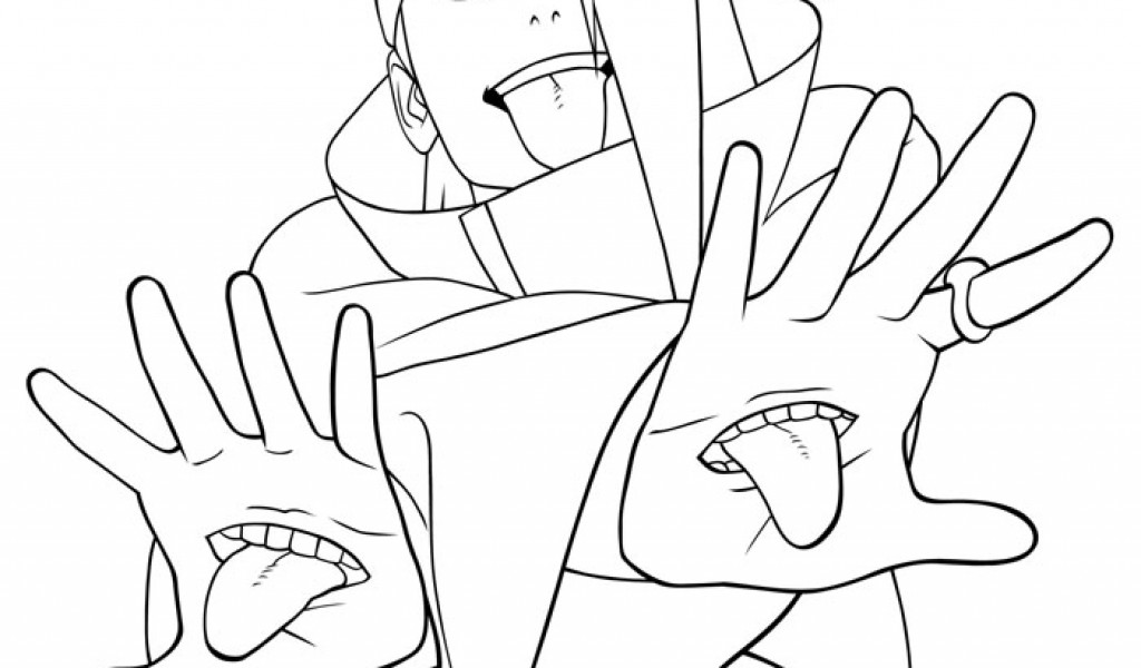 1024x600 Coloring Page Naruto Template For Kids Free Coloring Pages For Kids