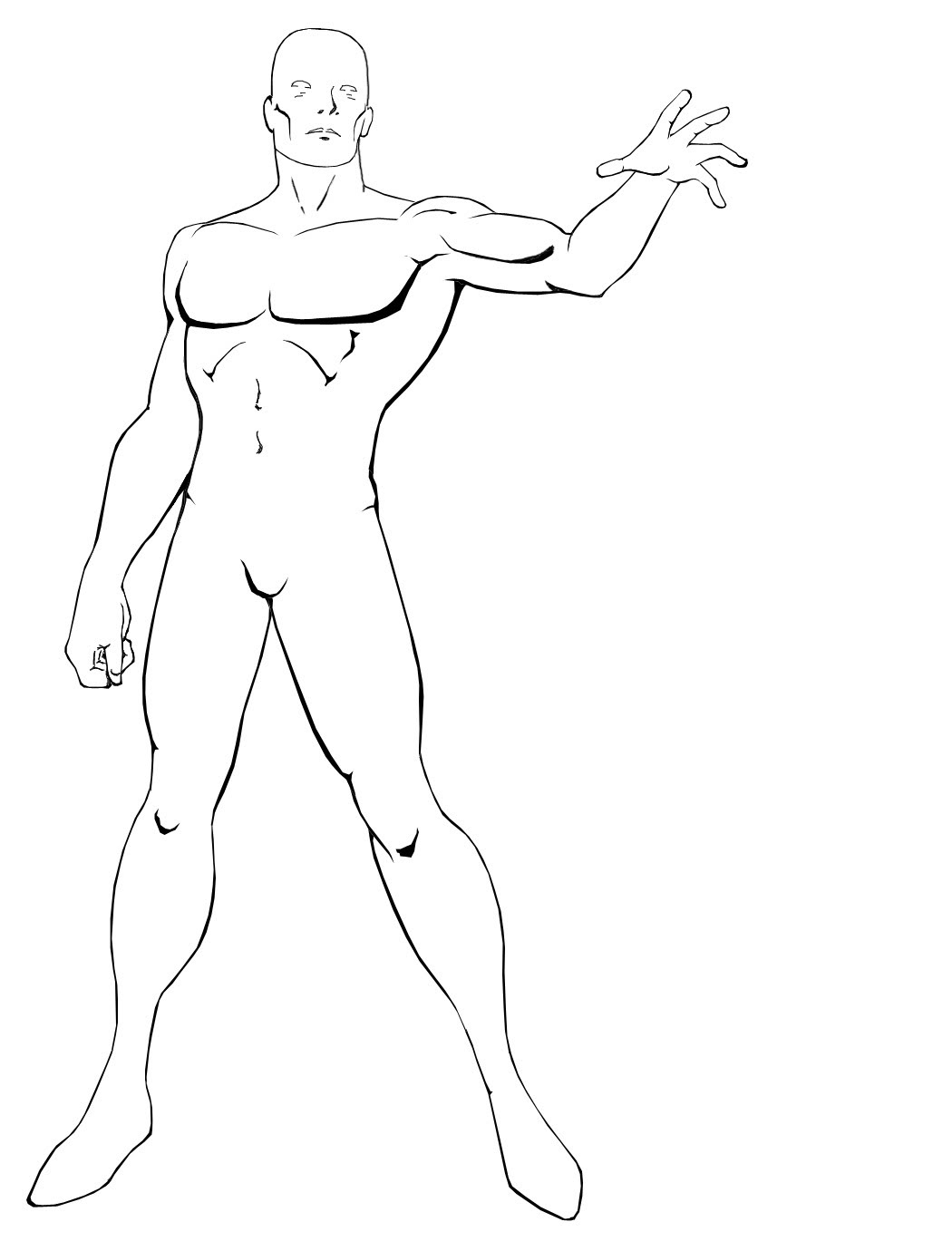 1050x1380 Outline Drawing Of Human Body Character Or Human Form Outlines