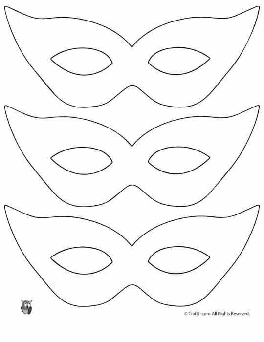 540x700 Free Printable Masquerade Mask Templates