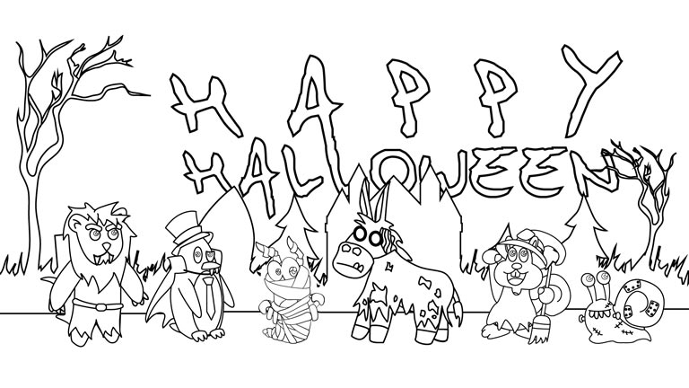 768x432 halloween printables templates amp coloring pages gummy wormgummy worm - Halloween Cutouts For Kids