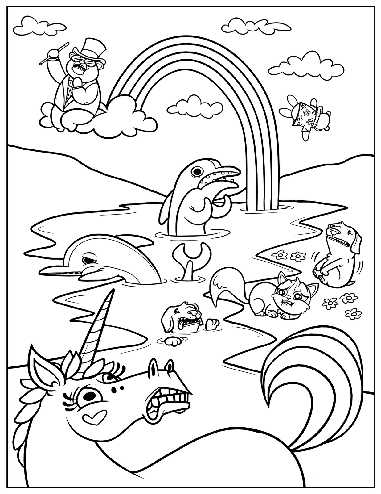 1236x1600 Rainbow Coloring Pages For Kids Printable Many Interesting Cliparts