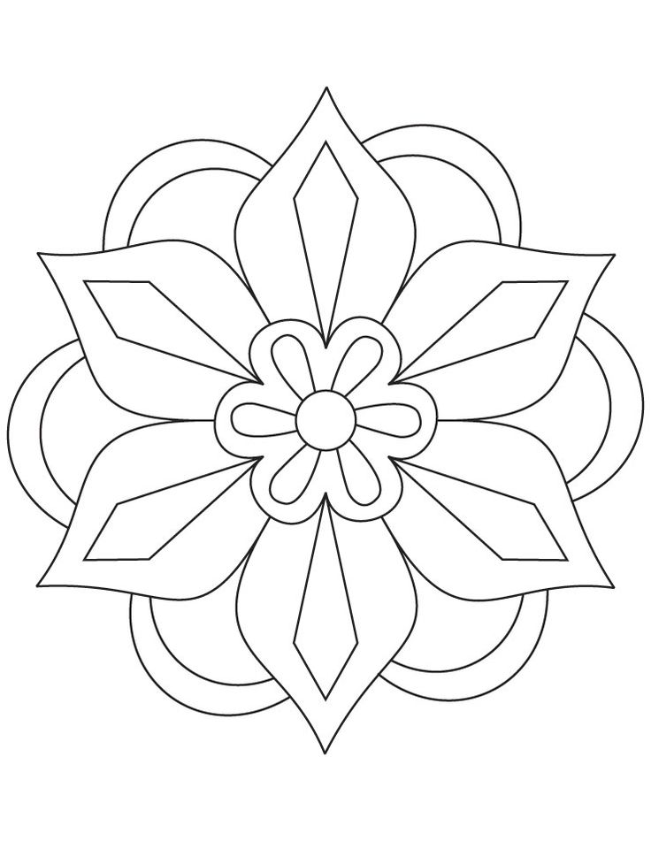 736x951 Rangoli Templates Printable Rangoli Coloring Pages For Kids