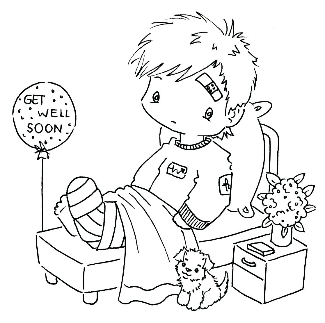 1117x1111 Soon Colouring Pages Printable Get Well Cards For Kids To Color