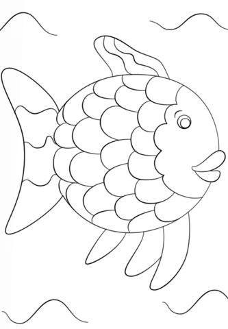 333x480 Rainbow Fish Printables Coloring Page