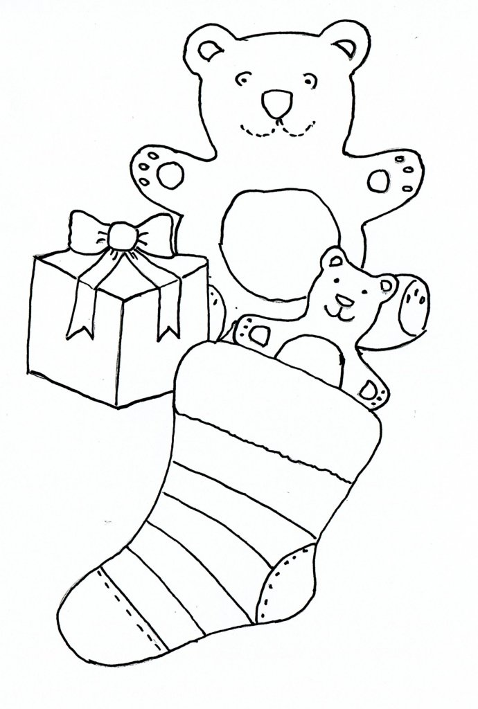 690x1024 Christmas Drawing For Children