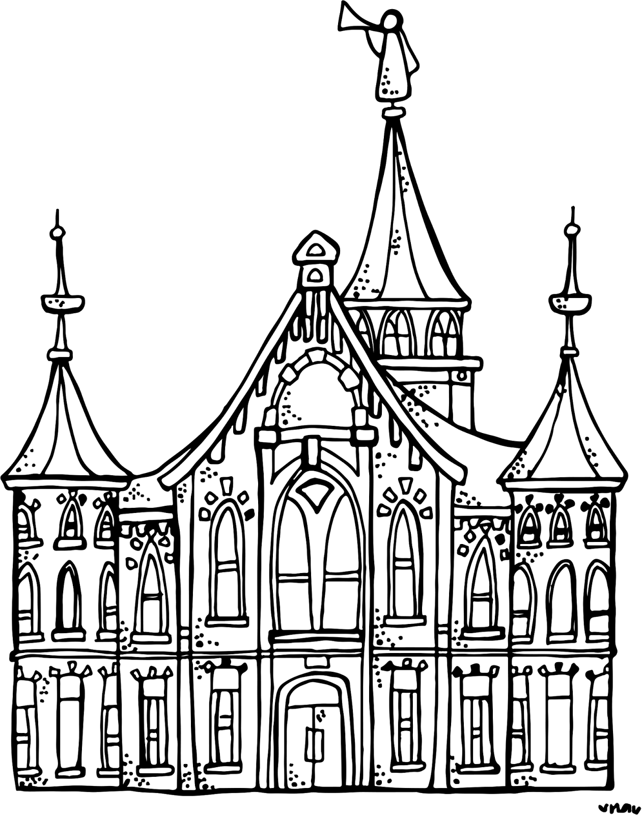 1261x1600 Melonheadz Lds Illustrating Provo City Center Temple )
