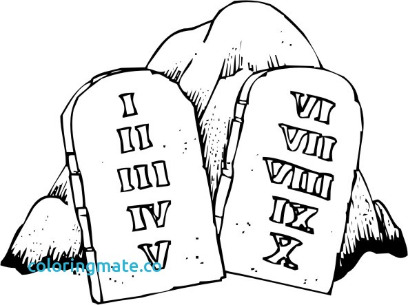 Ten Commandments Drawing