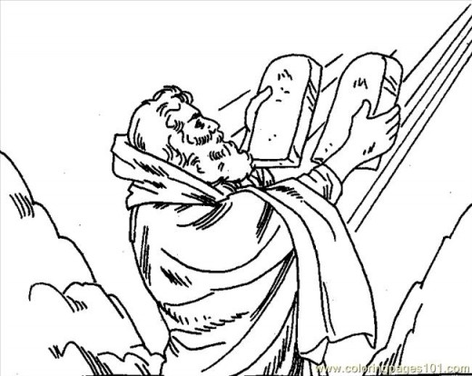 520x414 Moses Printable Coloring Pages 10 Commandments, Moses 10