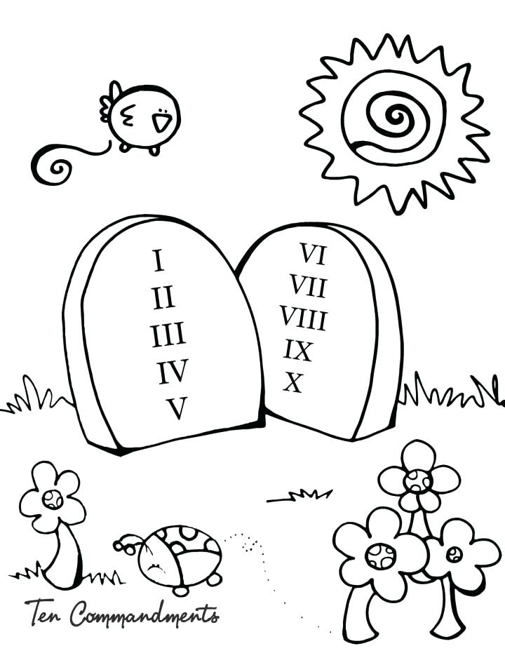 720x931 10 Commandments Coloring Page Commandments Coloring Pages Coloring