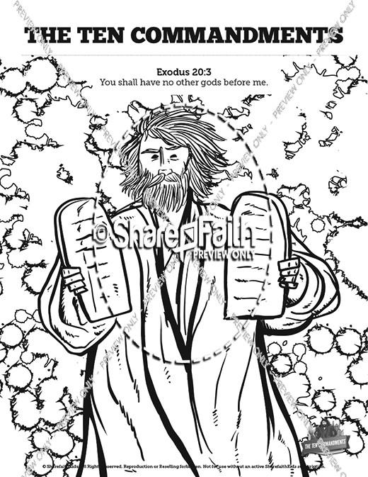 520x673 Ten Commandments Sunday School Coloring Pages Sunday School
