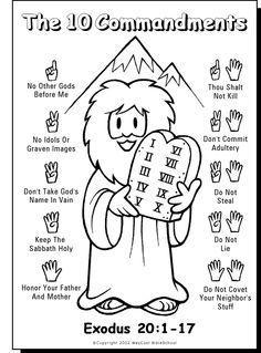 236x319 10 Commandments Color Sheet