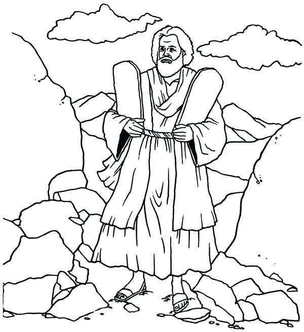 600x656 Ten Commandments Coloring Page