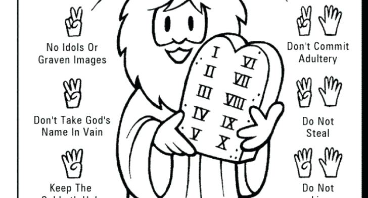 728x393 10 Commandments Coloring Page Joandco.co